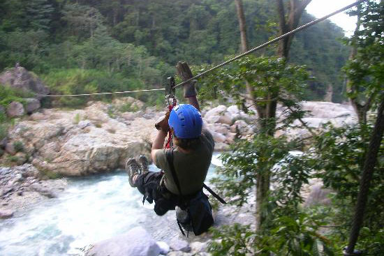 Ziplineing in the Jungle